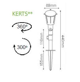 Градинска лампа с колче KERTS630B   IP54